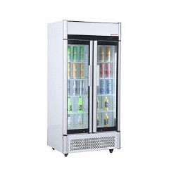 Getränkekühlschrank 2 Jahre Garantie 0,92 x 0,69 m - mit 2 Glastüren