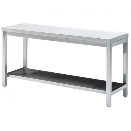 Arbeitstisch mit Zwischenboden, ohne Aufkantung, 600x700 mm