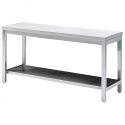 Arbeitstisch mit Zwischenboden, ohne Aufkantung, 1500x700 mm