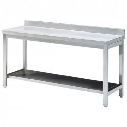Arbeitstisch mit Zwischenboden, mit Aufkantung, 600x700 mm