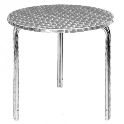 Bolero Tisch Edelstahl, rund