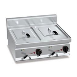 Elektro Fritteuse 10+10 Liter (12 kW)