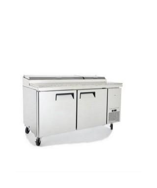 Kühl-Vorbereitungstisch mit 2 Türen 60x40, 7x GN 1/3