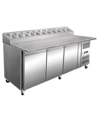 Kühl-Vorbereitungstisch mit 3 Türen 60x40, 10x GN 1/3