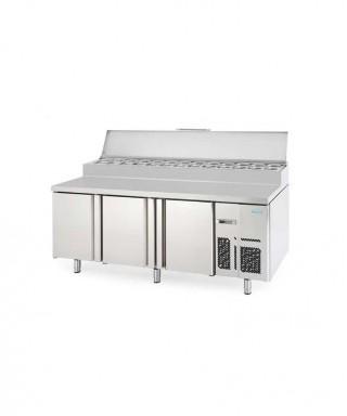 Bäckerei / Zubereitungskühltisch 2 Jahre Garantie (EN) - mit 3 Türen