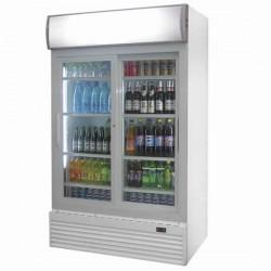 Getränke Kühlvitrine 2 Jahre Garantie mit 2 Glastüren, 944 Litern, 0 °C/+10 °C