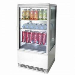 Getränkekühlvitrine 2 Jahre Garantie mit 3 Regale, 68 Litern, 0 °C/+12 °C, weiß