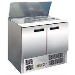 Saladette / Zubereitungstisch 0,9mx0,7m - mit 2 Türen