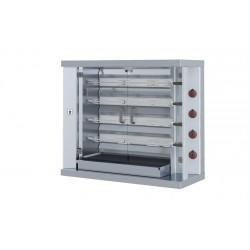 Gas Hähnchengrill / mit 4xSpieße für 24xHähnchen