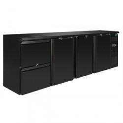 Arrière-bar Polar 3 portes et 2 tiroirs