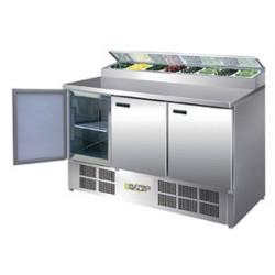 Saladette / Zubereitungstisch 1,37 m x 0,7 m - mit 3 Türen