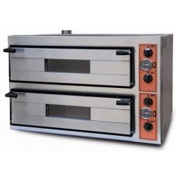 Elektro-Pizzaofen für 6+6 Pizzen ø 35 cm, digitale Bedienung