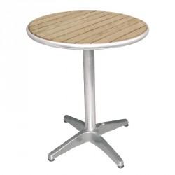 Bolero Tisch, Tischblatt Esche, rund 80 cm