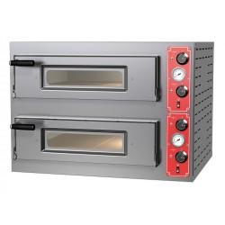 Elektro-Pizzaofen für 4+4 Pizzen ø 30 cm, mechanische Bedienung