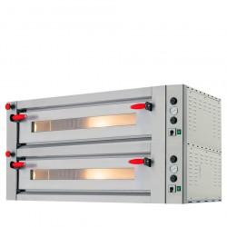 Elektro-Pizzaofen für 4+4 Pizzen ø 30 cm, elektronische Bedienung